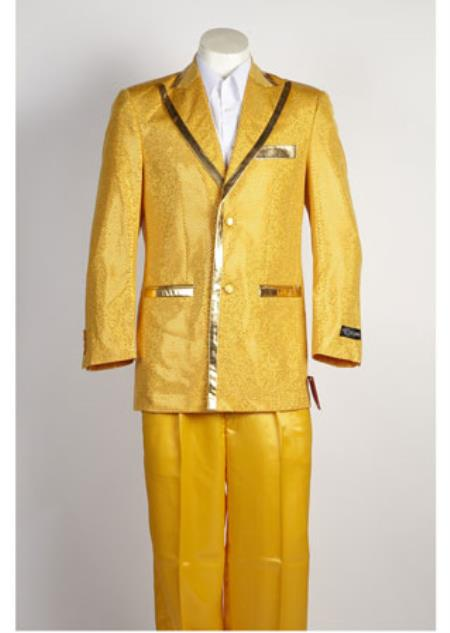 Men's 2 Button Gold Suit