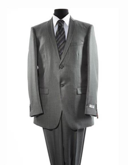 Mens Gray  Two Button Suit