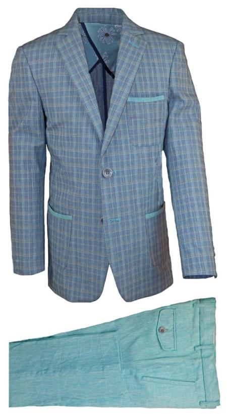 Boys Notch Lapel Gray 2 Pc Kids Sizes Linen Tonal Suit Perfect For boys wedding outfits And Pant