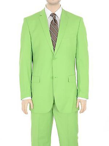 Button Suit Solid lime