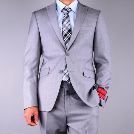 Slim Fit patterned Grey