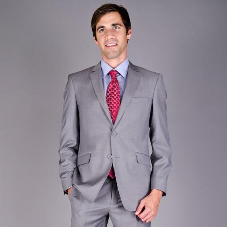 2-Button Wool Suit