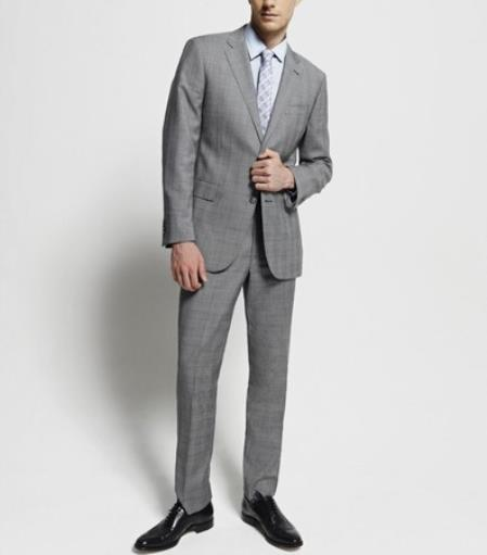 Buy SS-754 Slim Fitted Brand 2 Button Super 110's Glenplaid Wool Suit