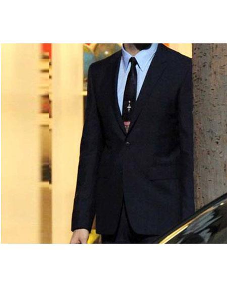 Men's Land Blue2 Button Peak Lapel Suit