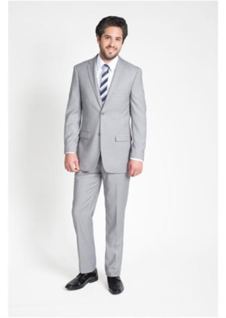 Buy SS-9656 Mens 2 Button Slim Notch Lapel Light Grey Slim Fit Suit