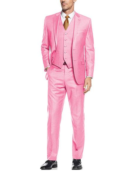 Mens Light ~ Baby Pink Suit