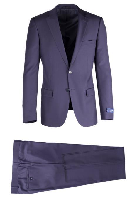 Buy SM4703 Men's Slim Fit Grey 2 Button Notch lapel Fully Lined Porto Suit