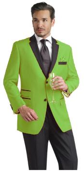 SKU#TNP797 Beautiful Mens lime mint Green ~ Apple ~ Neon Bright Green Available in 2 Buttons Dress With Nice Cut Smooth Soft $165