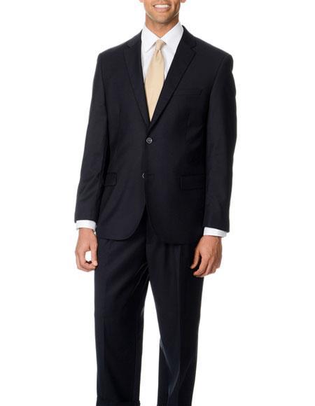 Brand: Caravelli Collezione Suit - Caravelli Suit - Caravelli italy Caravelli Men's Dark Navy Blue  2 Button Double Vent Suit
