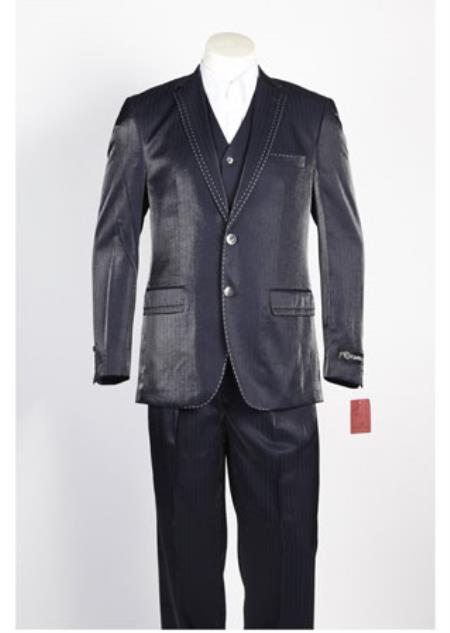 Buy SS-6544 Mens 2 Button Single Breasted Navy Suit