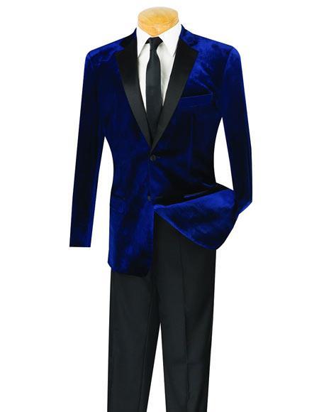 Men's Navy Velvet Tuxedo Suit