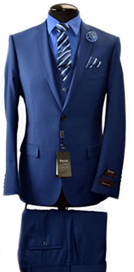 Buy SS-3636 Tiglio Italian Navy Slim Fit Suit & Vest