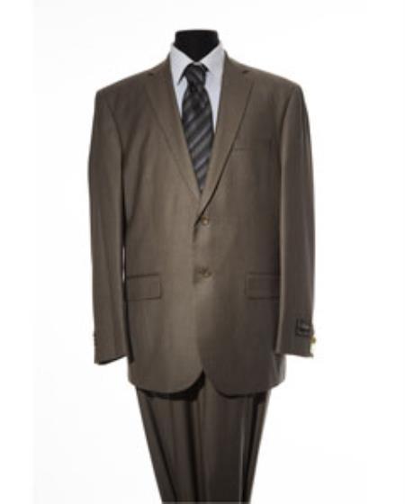 Mens Olive 2 Button 2 Piece Suit