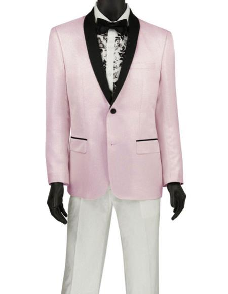 Men's Fashion Blazer ~ Sport Coat ~ Tuxedo Pink Dinner Jacket
