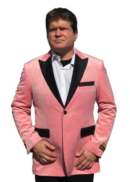 Mens Big And Tall Blazers Pink Cheap Priced Velvet ~ Velour Clearance Blazer / Sport Coat