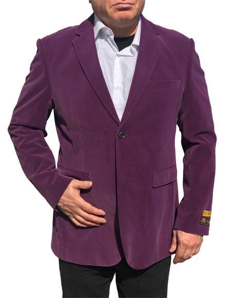 Alberto Nardoni Brand  Purple Velvet ~ Velour Blazer ~ Sport Coat Jacket Available Big Sizes
