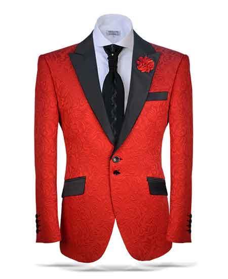 Two button red blazer 27730
