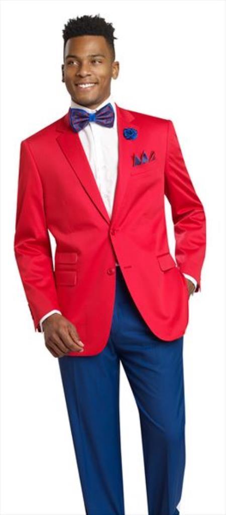 Men's Red 2 Button 2 Piece Cheap Priced Men's Wholesale BlazerJacket For Men