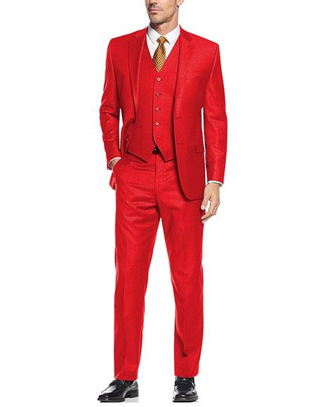 Colorful Festive Red Alberto Nardoni Wedding Prom Best Fashio Suits For Men Online
