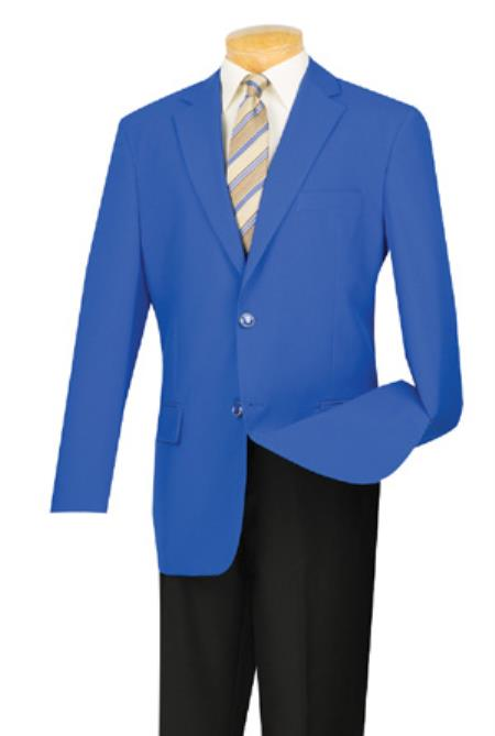 Mens Two Button Royal Blue Blazer Sport Coat Jacket With Gold Buttons Royal Blue
