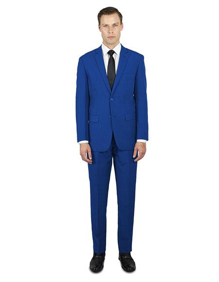 Festive Colorful Saphire ~ Indigo ~ Bright Blue Dark Navy Blue 2020 New Formal Style Wedding Prom Best Fashio Suits For Men Online