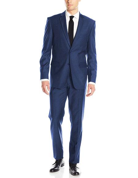 Buy GD591 Men's 2 Button Royal Blue Classic & Slim Fit Single Breasted Notch Lapel Blend Suits