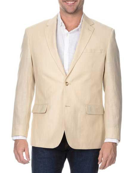 Mens Sand 2 Button Rich Wool Cheap Priced Designer Fashion Dress Casual Blazer On Sale Blazer