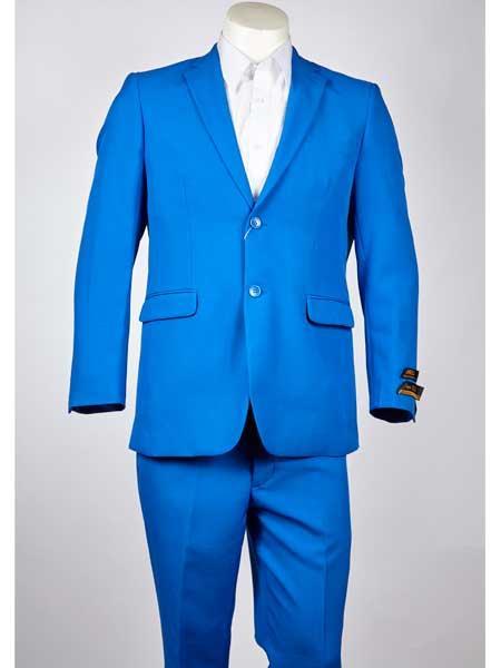 Button Mens Blue Notch