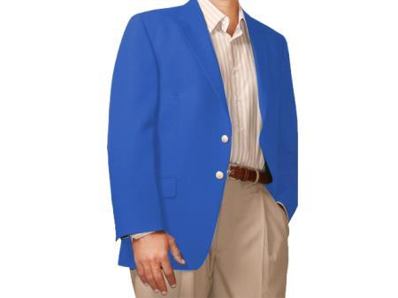 Two Button Blazer French-Blue