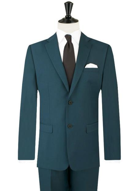 Teal Blue Men's Suits