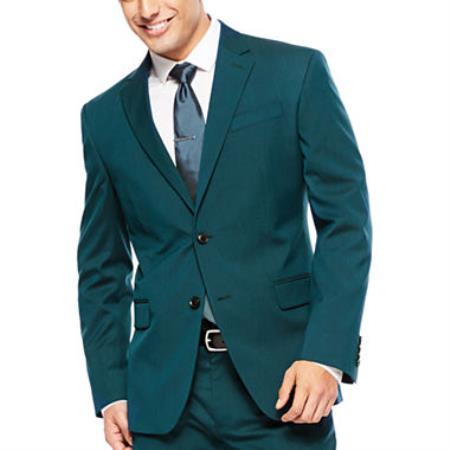 Mens 2 Button Super Slim Fit Teal Blue ~  Cheap Priced Business Suits Clearance Sale Jacket & pants