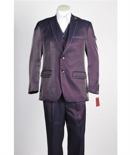 Wine ~ Burgundy~Purple Fashion Single Breasted Suit
