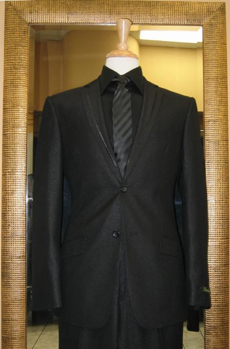 Button Black Slim Fit