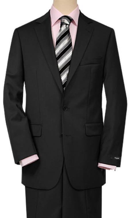SKU#SP7 Solid Black Quality Suit Separates, Total Comfort Any Size Jacket&Any Size Pants