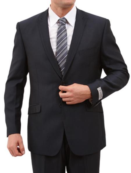 SKU#M148S000 Mens 2 Button Front Closure Slim Fit Suit