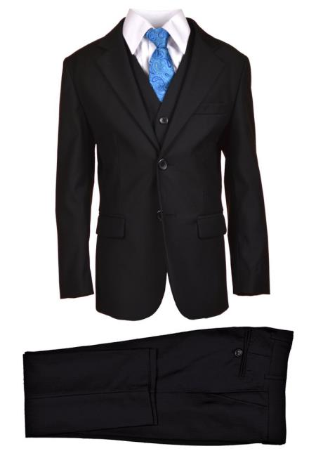 Husky Boy's Suit Black Perfect for toddler Suit wedding  attire outfits