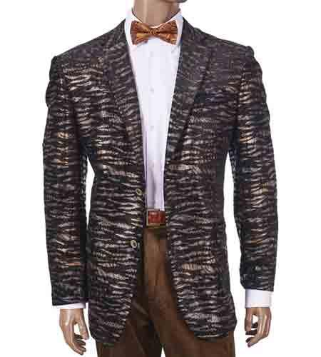 Brown Notch Lapel Animal