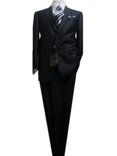SKU#GU2224 Fitted Discounted SaleSlim Cut 2 Button Charcoal Teakweave Mens Suit