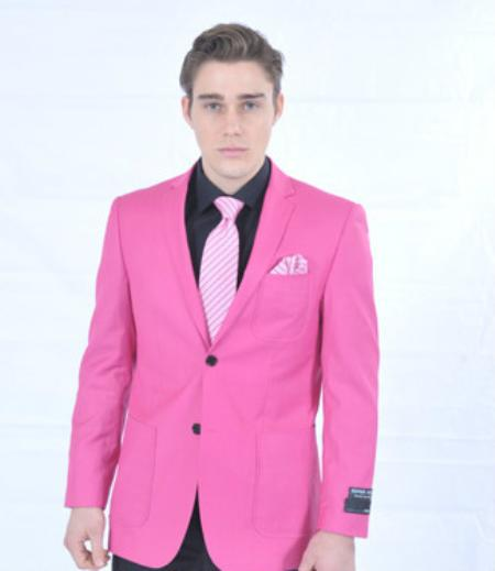 Fitted Premium Blazer Fuschia