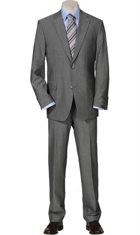 SKU#SP10 Solid Light Gray Quality Suit Separates, Total Comfort Any Size Jacket&Any Size Pants