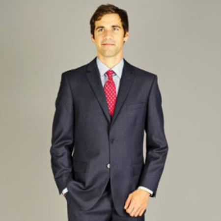 Men's Gray Fully lined with full construction Wool Suit