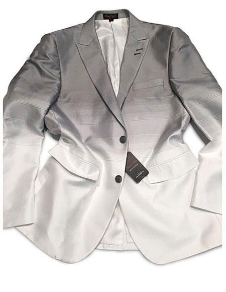 Mens Grey/White 2 Buttons Cheap Priced Designer Fashion Dress Casual Blazer For Men On Sale Blazer