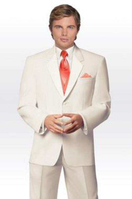 Sku Qy75l Mens 2 On Ivory Cream Tuxedo Wedding Suit