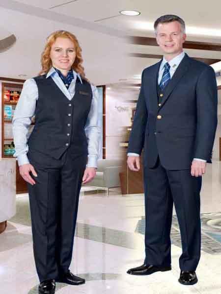 Buy SM882 Mens 2 Button Navy Blue Black 3 Pieces Vested Suit Brass Blazer Sport Jacket Buttons Jacket Vest & Pants