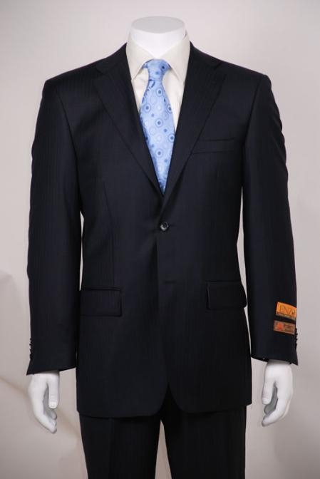 Navy Tone on Tone Modern Fit 2 Button Vented without pleat flat front Pants