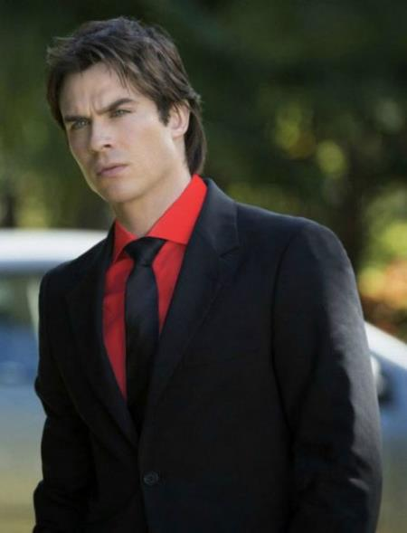 Men's Black Suit Red Shirt Black Tie Package Combo ~ Combination Deal As Seen In The Picture