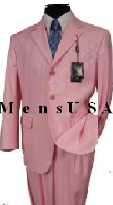 SKU# ITD817 MUP3 Beautiful Mens 2 Button Light Pink Fashion Dress With Nice Cut Smooth Soft Fabric