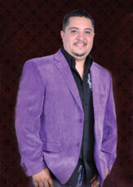 Mens Cotton/Rayon 2 Button Sport Coat Notch Lapel Side Vents Purple