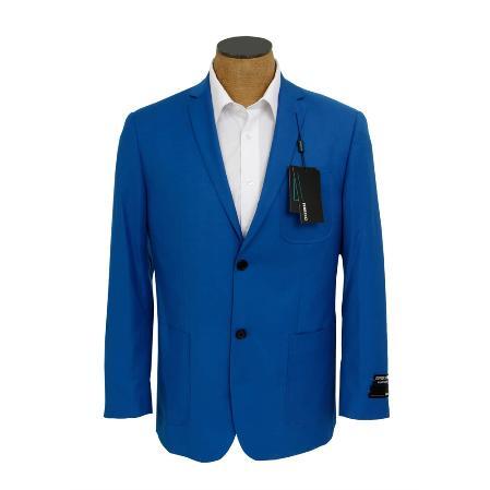 Men's Solid Royal Blue Sport Coat Jacket Cheap Priced Unique Fashion Designer Men's Dress Men's Wholesale Blazer  Sale