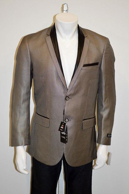 Buttons Shiny Notch Lapel